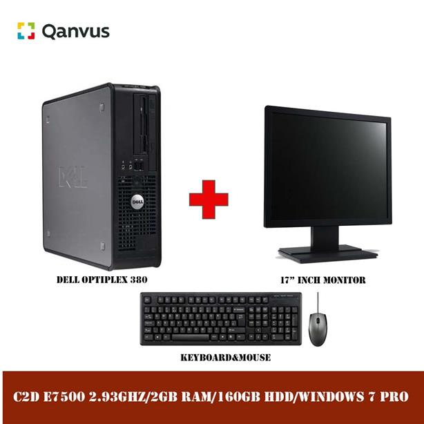 "DELL OPTIPLEX 380 C2D 2.93GHZ+WINDOWS 7+17"" LCD"