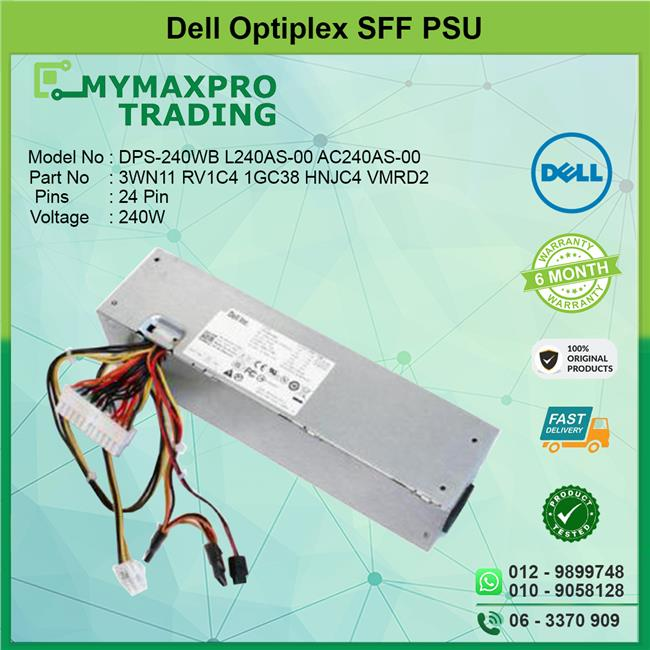 Dell Optiplex 390 790 990 SFF 240W Power Supply PSU RV1C4 1GC38