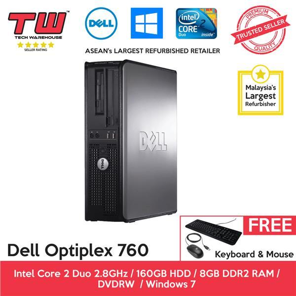 Dell Optiplex 760 C2D 2 8 / 8GB RAM / 160GB HDD / Windows 7 PC