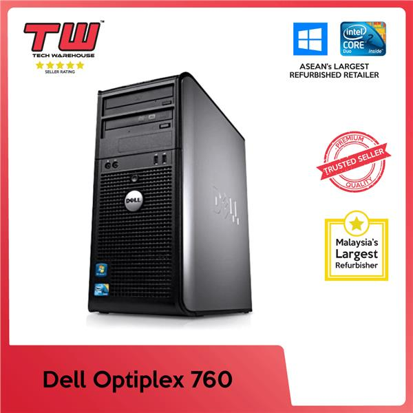 Dell Optiplex 760 Tower C2D 2 6 GHz (Factory Refurbished)