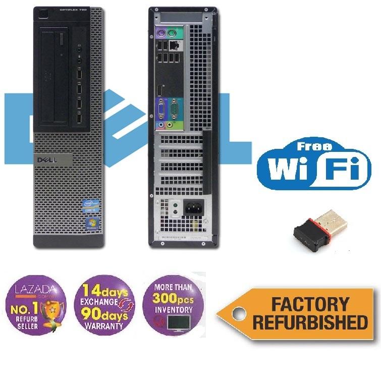 Dell Optiplex 790 DT Factory Refurbished, i3, 4GB, 250GB, Win7 + Free WiFi  Ada