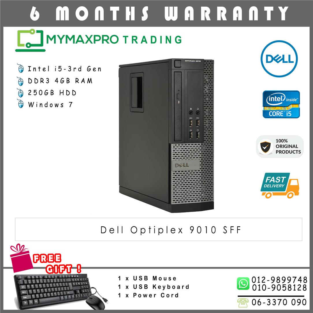 Dell Optiplex 9010 SFF Intel i5-3rd Gen 4GB 250GB HDD Win 7 Desktop