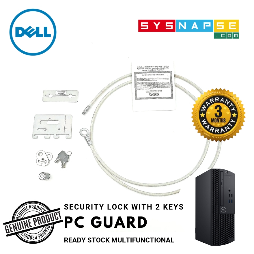 Dell PC Guardian Computer Lock Notebooks Desktop NT101R Full Set 2 Key