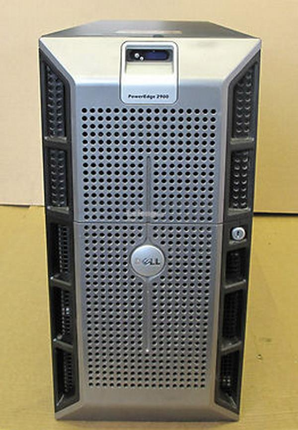 DELL POWEREDGE 2900 TOWER SERVER ,QUAD CORE ,4GB ,160GB