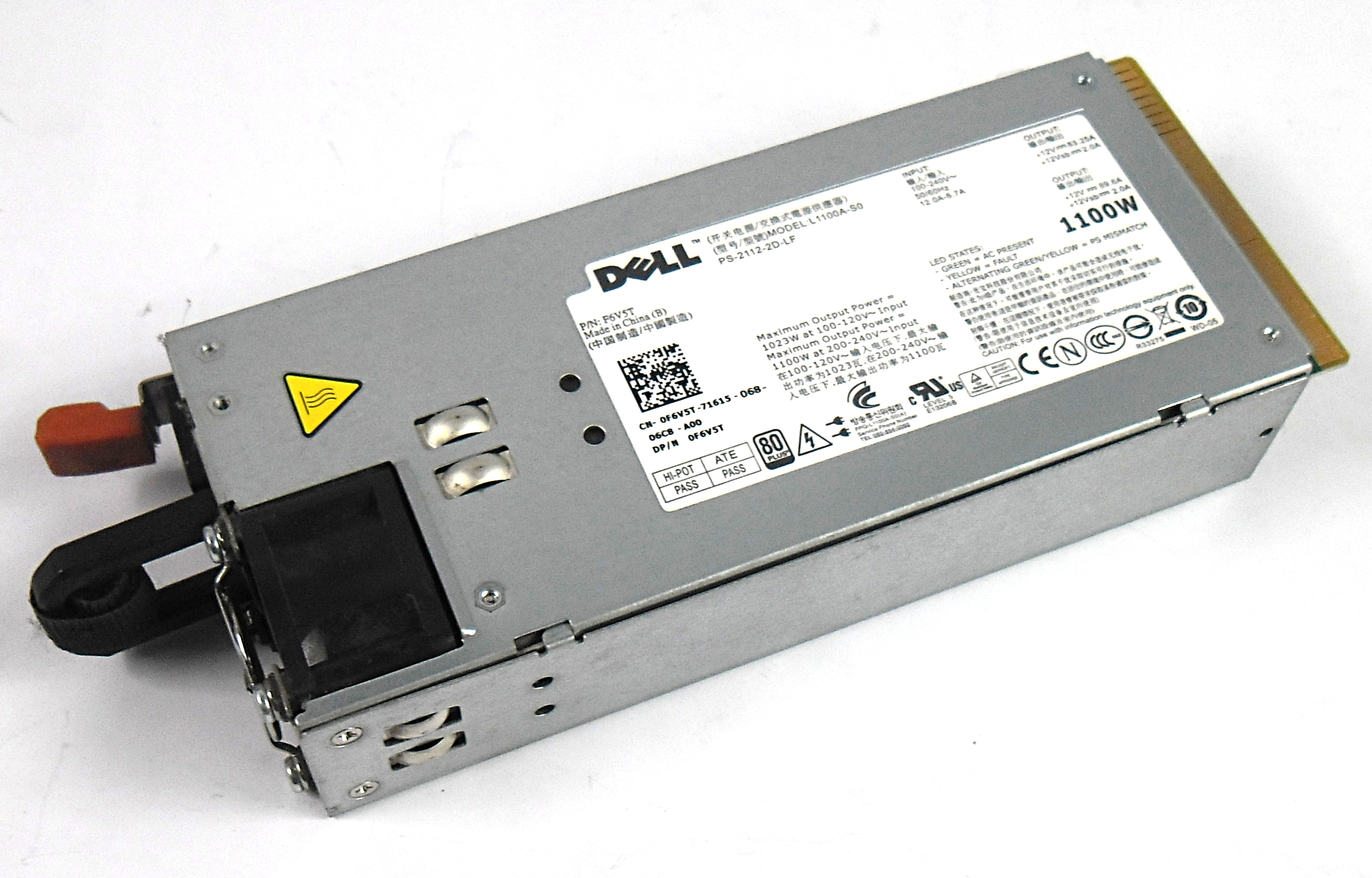 Dell PowerEdge R510 R810 R910 T710 Server 1100W Power Supply PSU 3MJJP