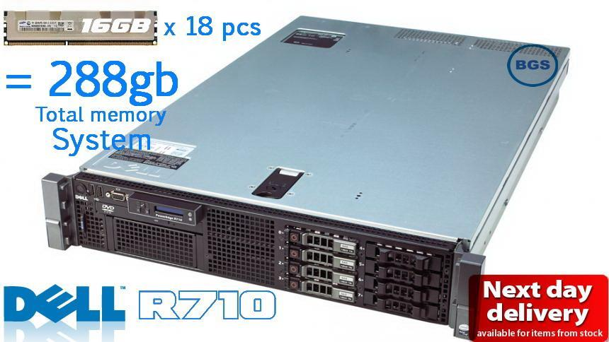 Dell poweredge R710 2u Server ~ 288 GB Ram ,12 core system