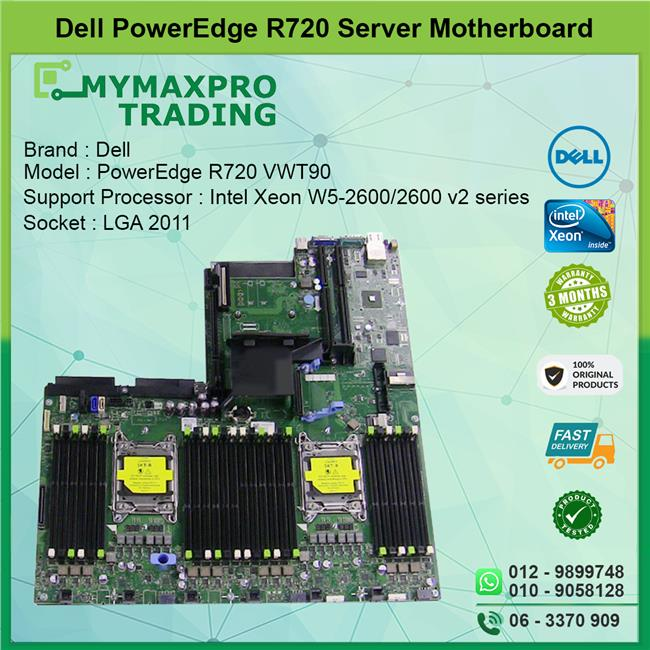 Dell PowerEdge R720 LGA 2011 Server System Board VWT90