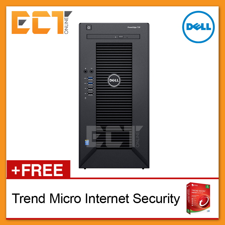 Dell PowerEdge T30 Mini Tower Server (Xeon E3-1225 v5 3.80Ghz,1TB,8GB,3 Years