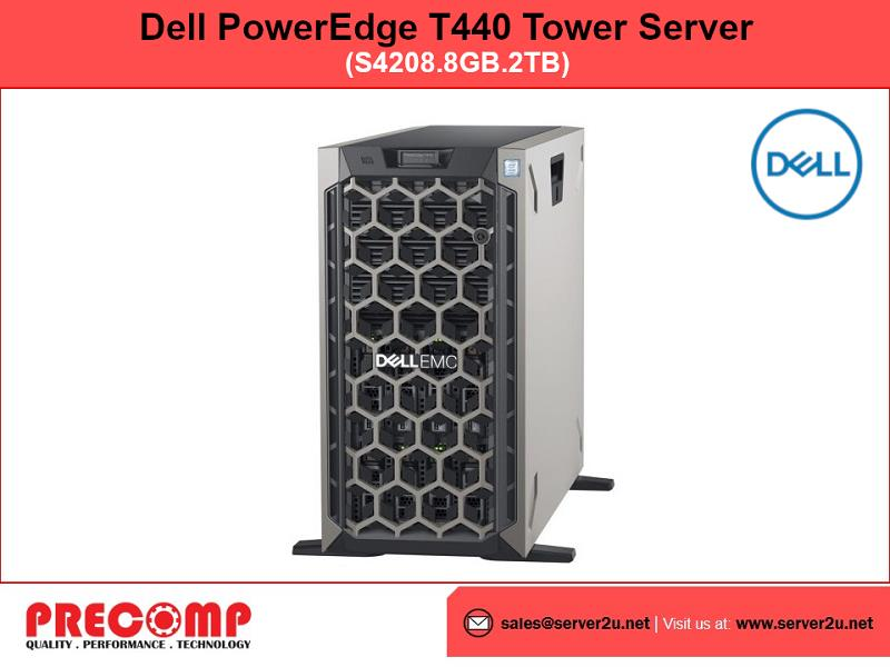 Dell PowerEdge T440 Tower Server (S4208.8GB.2TB) (T440-XS4208)