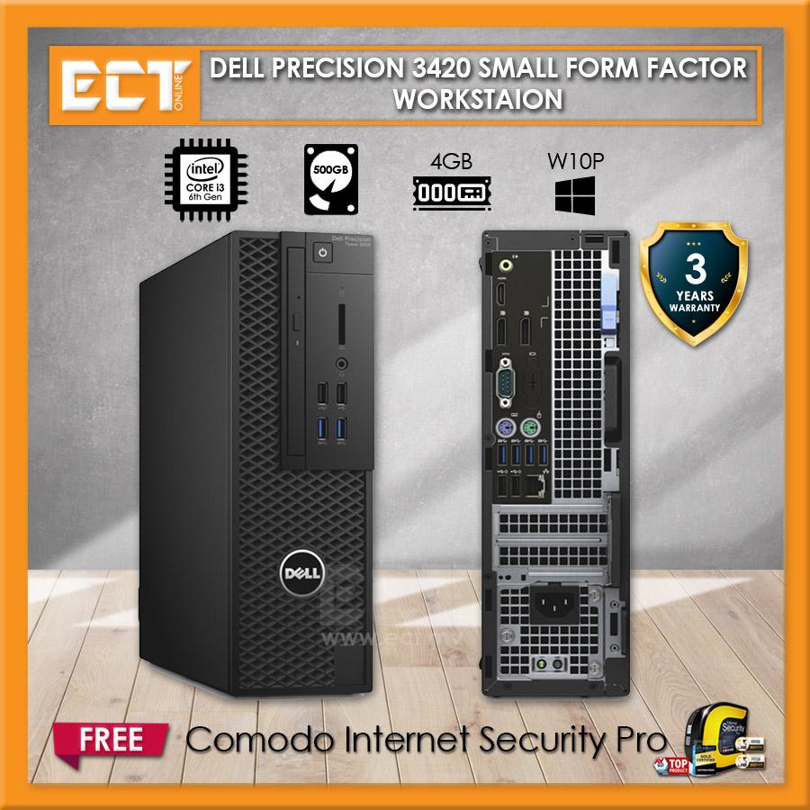 Dell Precision 3420 SFF Workstation (i3-6100 3.70Ghz,500GB,4GB,W10P)