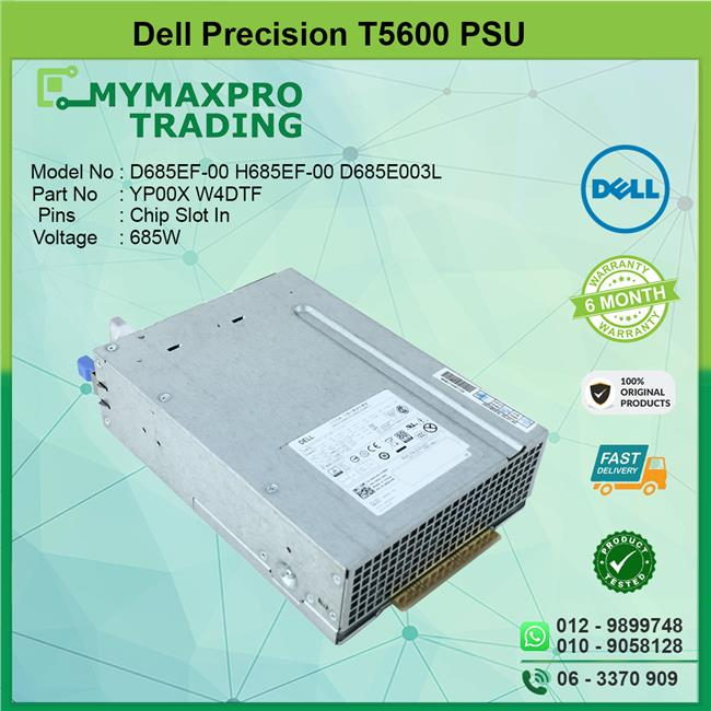 Dell Precision T5600 Workstation 685W Power Supply PSU YP00X