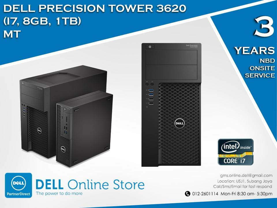 Dell Precision Tower 3620 (i7, 8GB, 1TB) MT