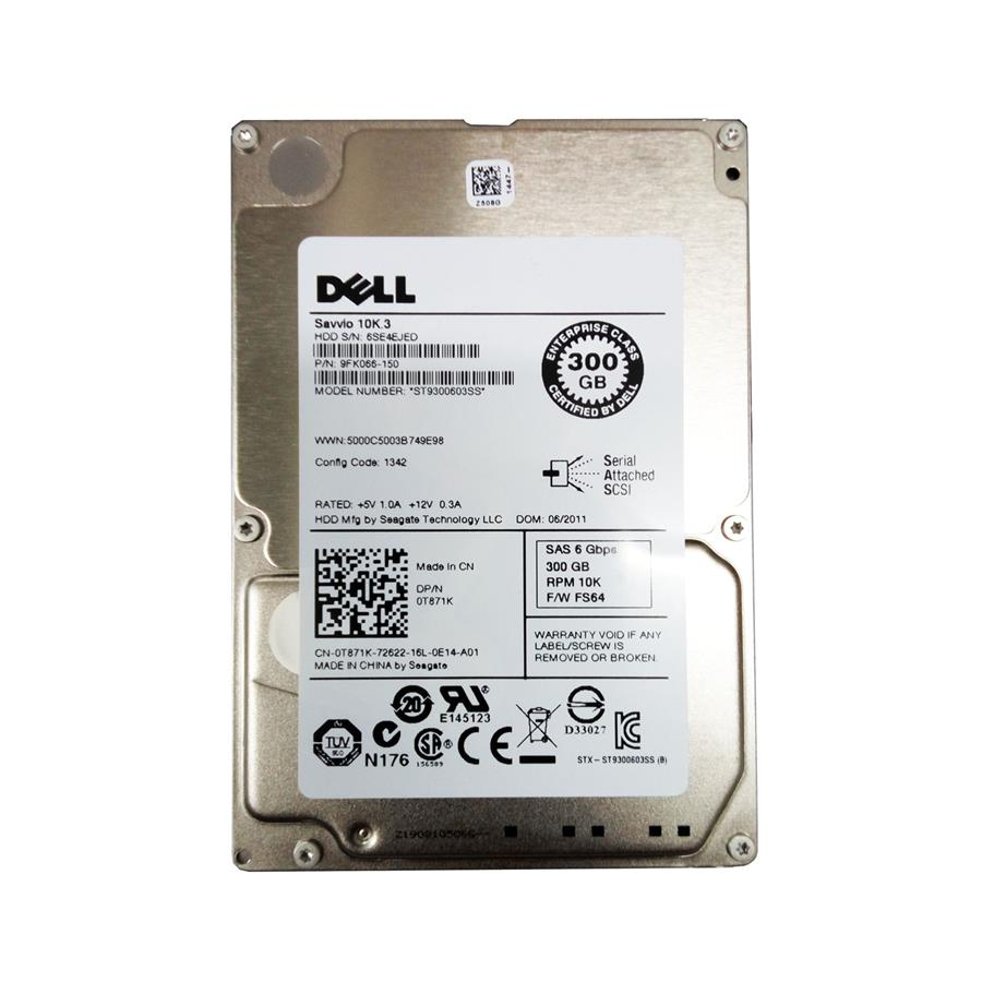 "Dell Savvio 300GB 10K RPM 2.5"" SAS Hard Disk"