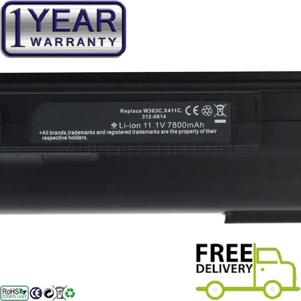 Dell Studio XPS 312-0814 PP35L R720C W267C X413C 9C 7800mAh Battery