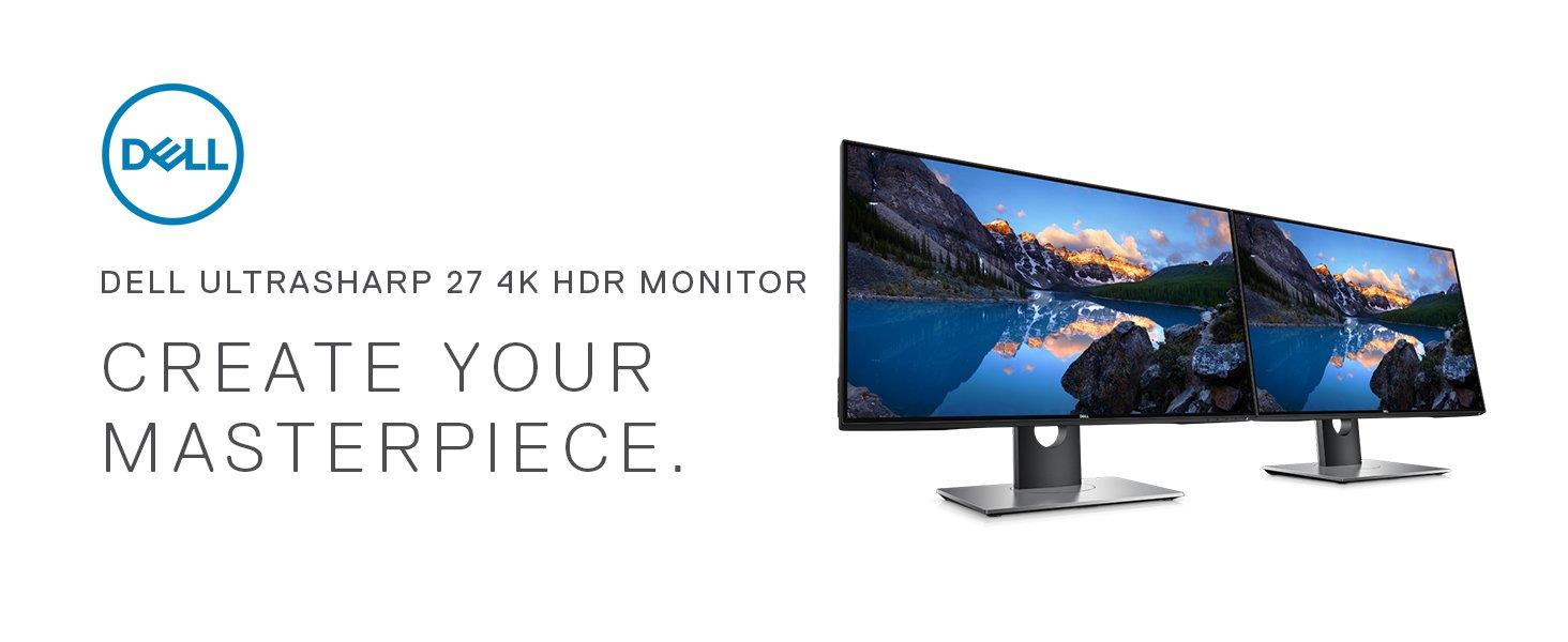 DELL U2718Q 27' UHD 4K UltraSharp HDR Monitor with Adjustable Height