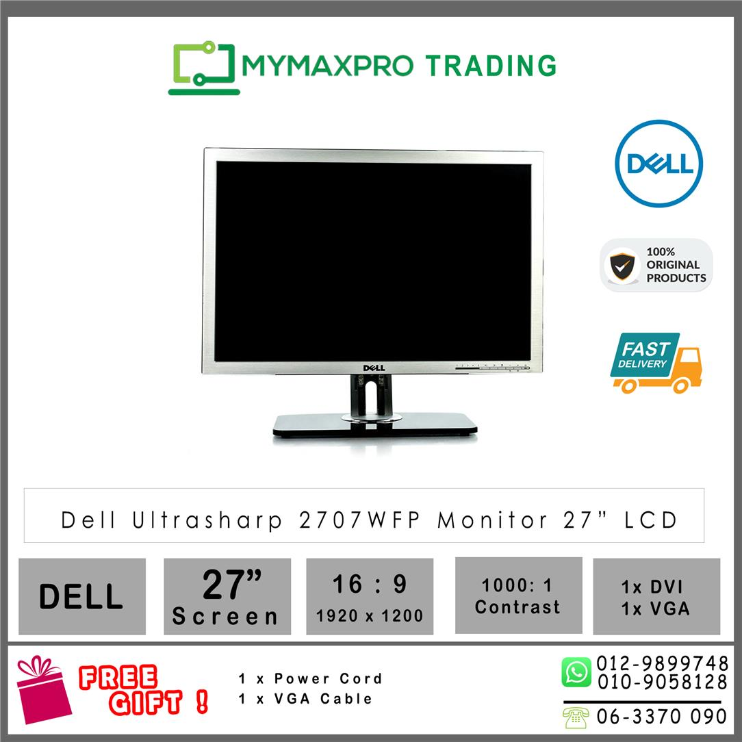 Dell UltraSharp 2707WFP 27'' LCD Display Monitor Aluminium panel