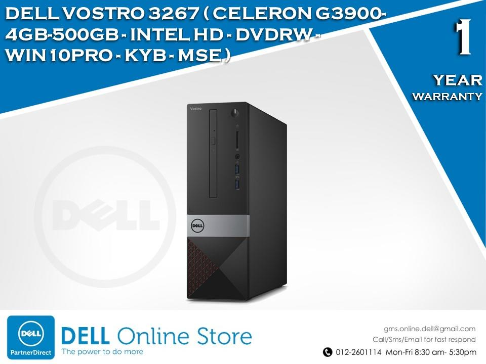 DELL VOSTRO 3267 (CELERON G3900-4GB-500GB-INTEL HD-WIN10PRO)