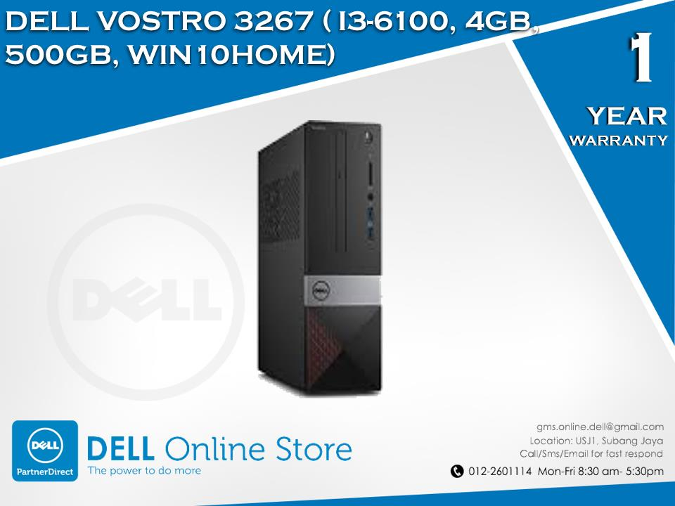 DELL VOSTRO 3267 ( I3-6100, 4GB, 500GB, WIN10HOME,)