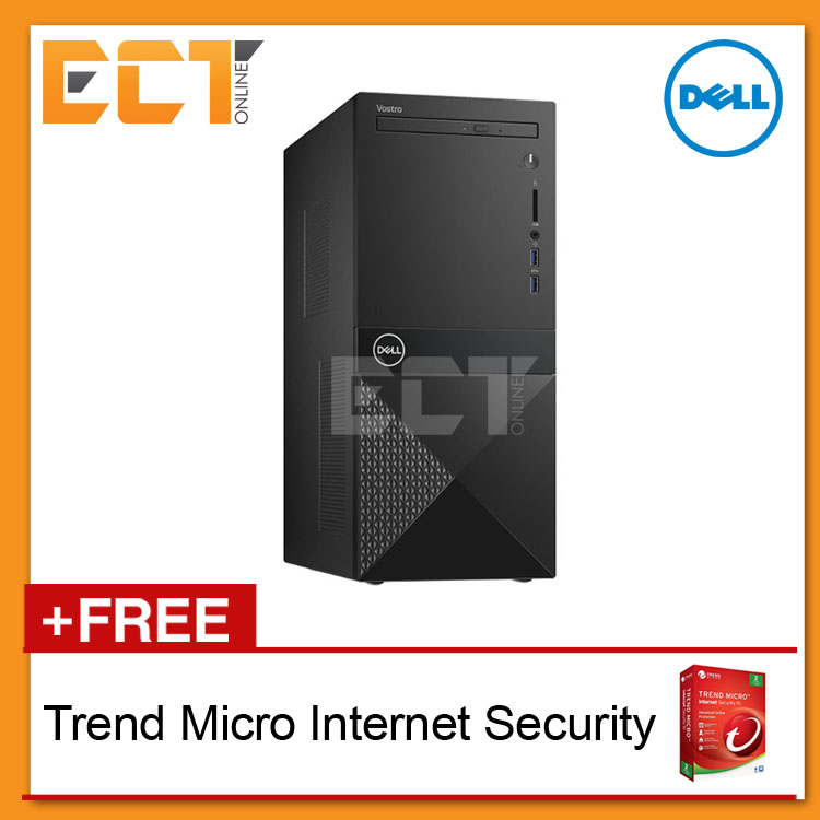 Dell Vostro 3670 MT Tower Business Desktop (i3-8100,1TB,4GB,W10)