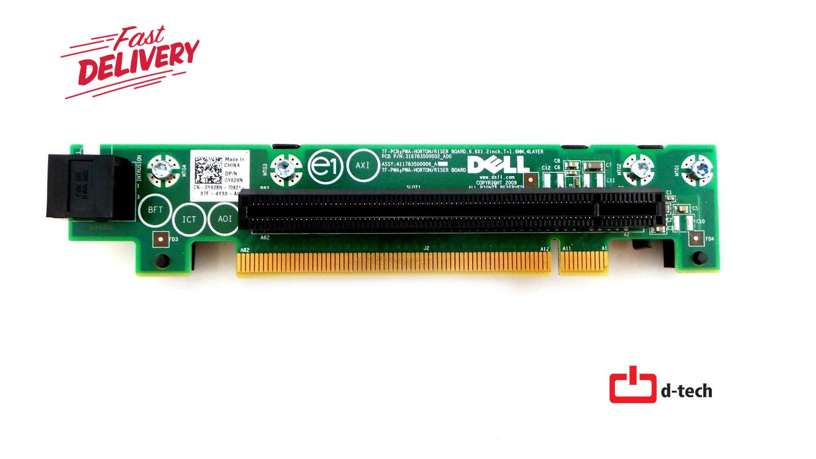 Dell Y628N PowerEdge R210 Server PCI-E x16 Riser Board