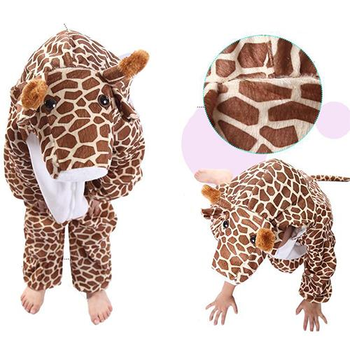 Deluxe Children Giraffe Big Head Dress Costume Animal Fairytale Outfit