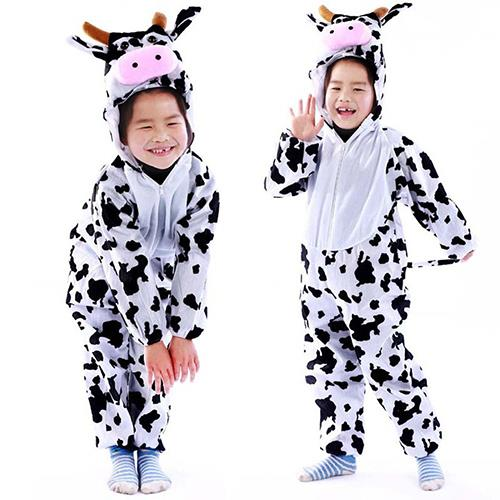 Deluxe Children Moo Moo Big Head Dress Costume Animal Fairytale Outfit