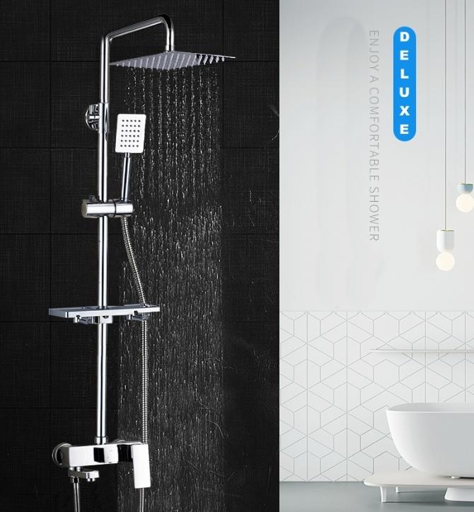 Deluxe Rain Shower Bath Set For Water Heater