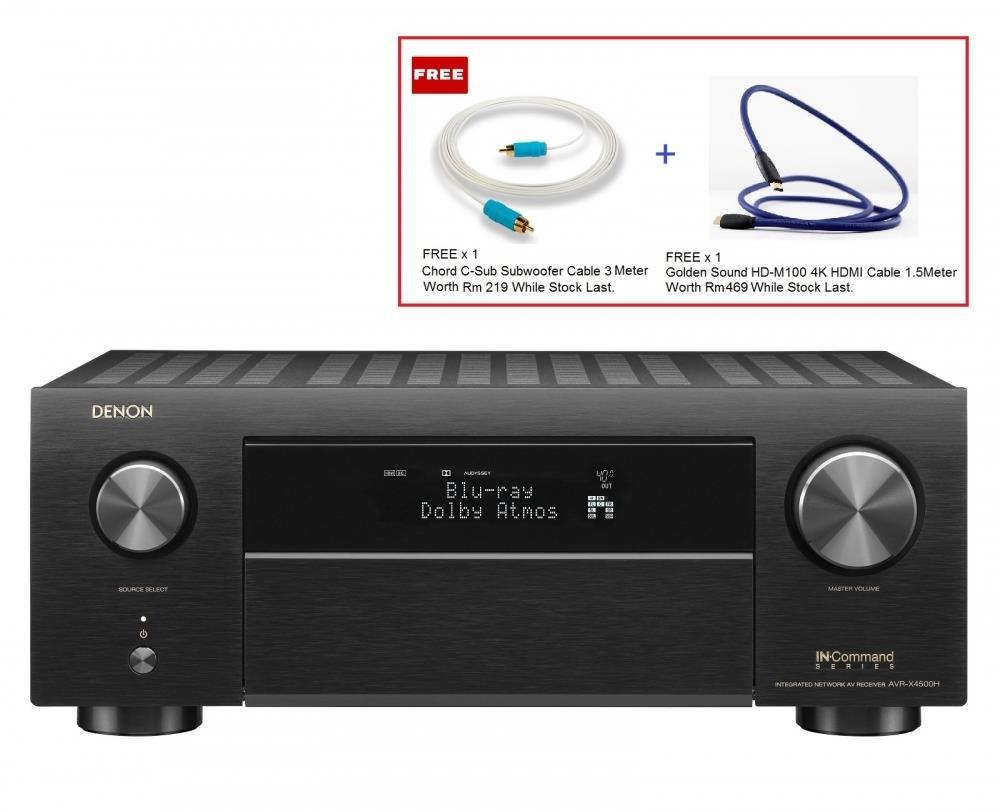 Denon AVR-X4500H 9 2Ch Atmos Network Av Receiver