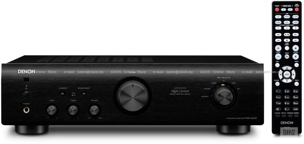DENON PMA-520AE Integrated Amplifier High-Current Single-Push-Pull