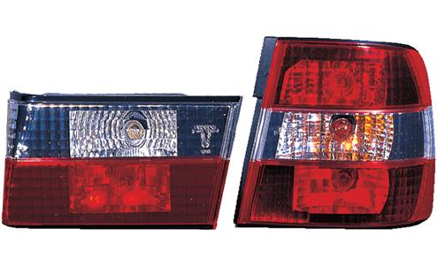 DEPO BMW 5 Series E34 `88-94 Tail Lamp Crystal Red/Clear [BM11-RL01-U]