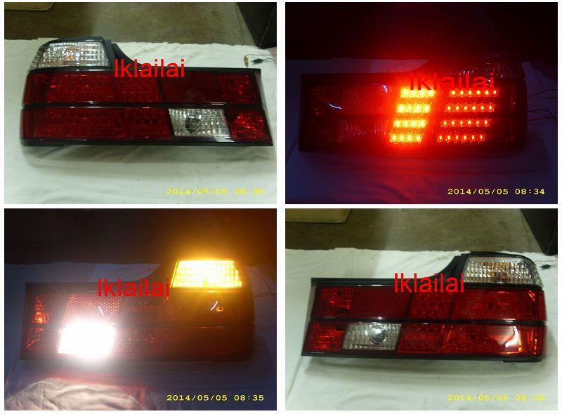DEPO BMW E32 '88-94 LED Tail Lamp Clear/Red [BM30-RL01-U]