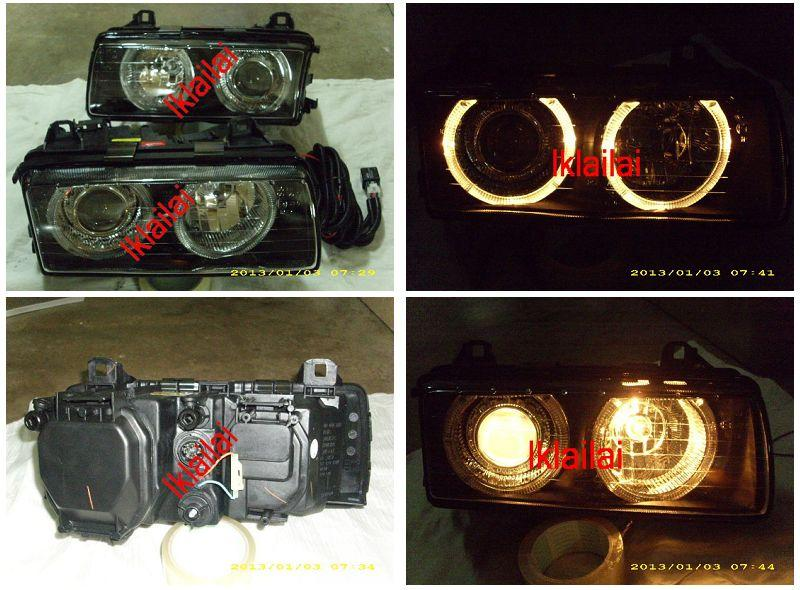 DEPO BMW E36 '91-97 Head Lamp Crystal Projector Glass Lens With Rim