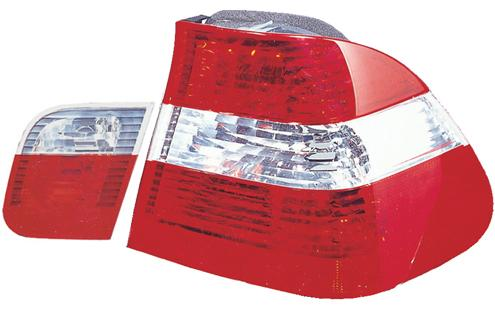 DEPO Bmw E46 98-04 4D `98-02 Tail Lamp Crystal Red/Clear [BM02-RL02-U]