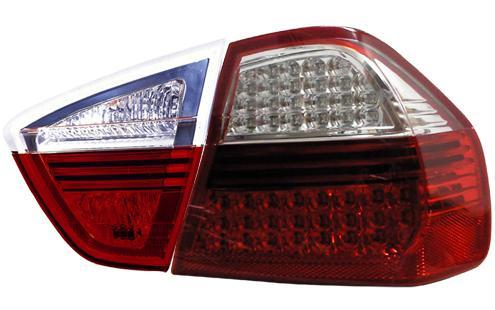 DEPO BMW E90 `05 Tail Lamp Crystal LED Clear/Red (BM03-RL02-U)