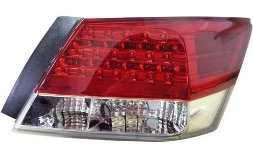 DEPO Honda Accord `08 Tail Lamp Crystal LED Red/Clear [HD06-RL01-U]