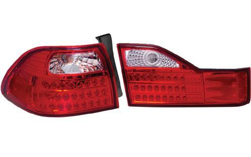 DEPO Honda Accord `98-02 Tail Lamp Crystal LED Clear/Red [HD04-RL01-U]