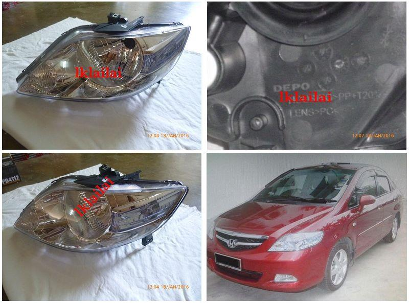 DEPO Honda City 2005 OEM Style Head Lamp (RH/LH) 1-Side only