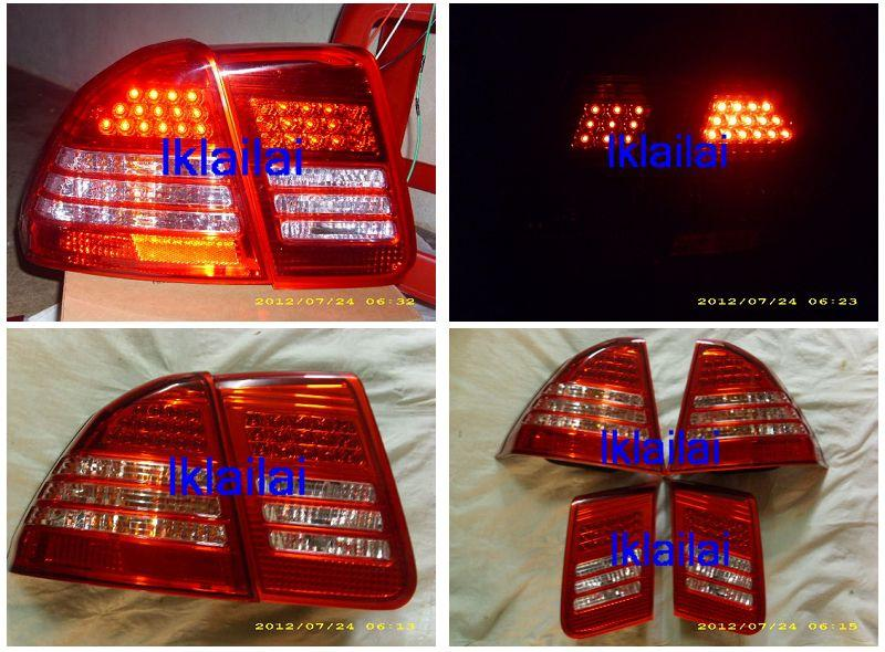 DEPO Honda Civic `01-05 Tail Lamp Crystal LED Red/Clear [HD13-RL02-U]