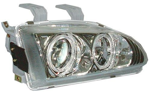 DEPO Honda Civic `92 SR, EG Head Lamp Crystal Chrome Projector + RIM
