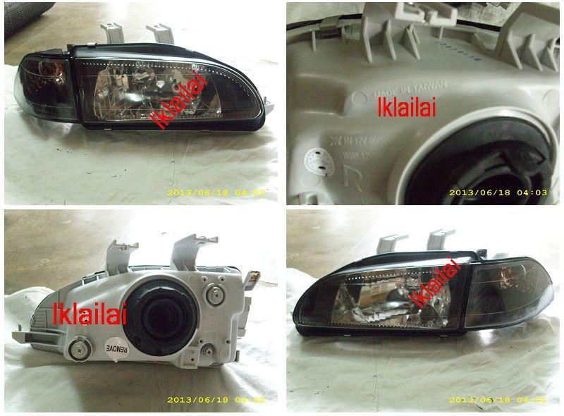 DEPO Honda Civic SR/EG 92 Head Lamp Crystal Black Glass Lens (HD11-