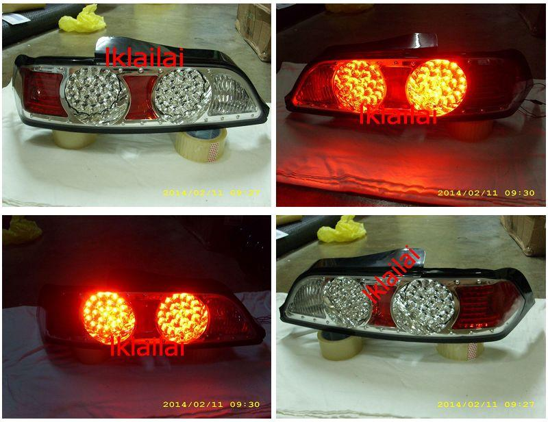 DEPO Honda Integra `02-07 DC5 Tail Lamp Crystal LED Chrome [HD62-RL02-