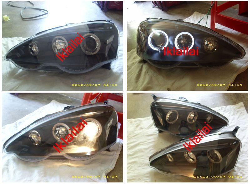 DEPO Honda Integra + Acura RSX DC5 '02-'05 LED Projector Head Lamp