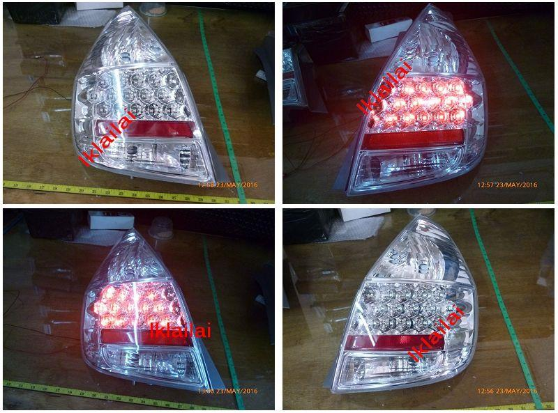 DEPO Honda Jazz/ Fit '02-07 LED Tail Lamp Crystal Clear [HD30-RL03-U]