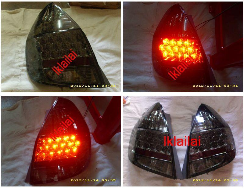 DEPO Honda Jazz/Fit `02-07 SAA Tail Lamp Crystal LED Smoke [HD30-RL04-