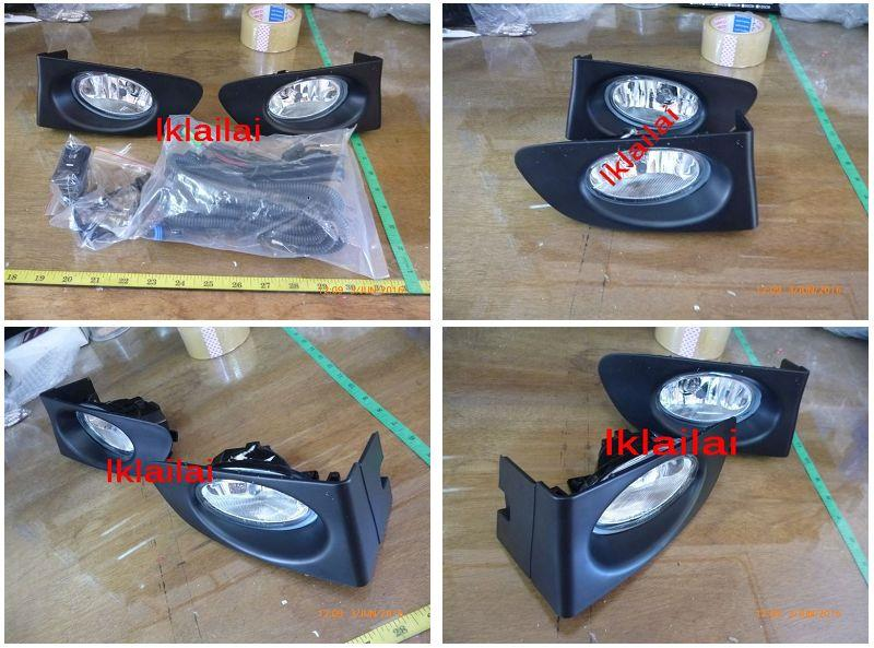 DEPO Honda Jazz/Fit '02 Crystal Fog Lamp with Wiring & Switch[HD30-FL0