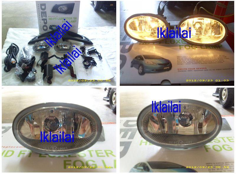 DEPO Honda Jazz/ Fit `08 1.5 Fog Lamp Crystal with Wiring & Switch[HD3