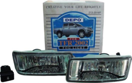 DEPO Isuzu D-Max `02-06 Fog Lamp Crystal W/ Wiring + Switch [IS13-FL01
