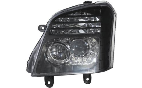 DEPO Isuzu D-Max 02 Head Lamp Crystal Black W/Projector + LED (IS13-