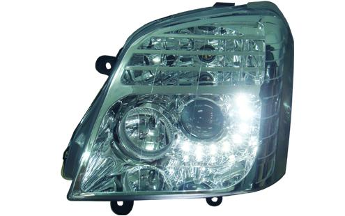 DEPO Isuzu D-Max 02 Head Lamp Crystal Chrome W/Projector + LED (IS13