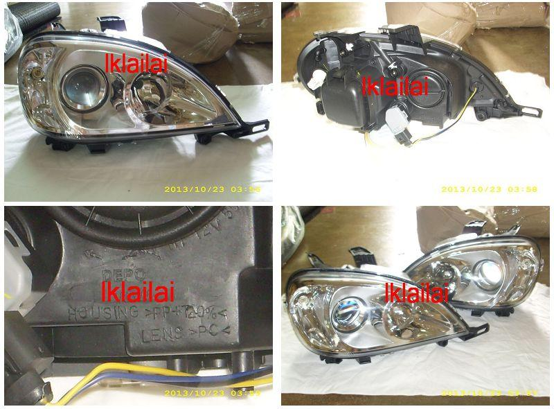 DEPO Mercedes Benz W163 `98-04 Projector Head Lamp W/Vacuum